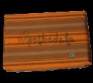 Narancs-barna csíkos ortopédiai kutyafekhely (60×40)