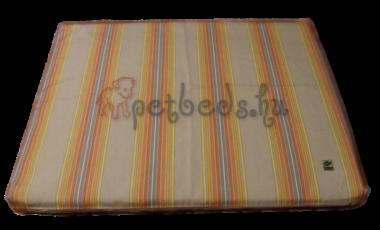 Szürke-narancs csíkos, memóriahabos kutyafekhely (60×40)
