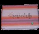 Narancs-rózsaszín csíkos ortopédiai kutyafekhely (60×40)